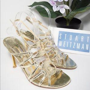 Stuart Weitzman Shoes Heels Sandals Gold Sandals